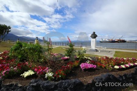 Water south america ushuaia statue tierra del fuego.