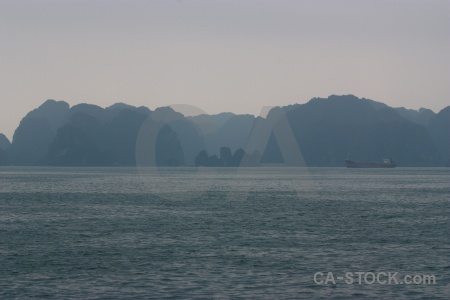 Water southeast asia vietnam mountain island.