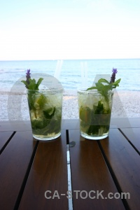 Water spain beach drink mojito.