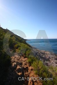 Water spain rock javea europe.
