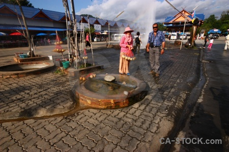 Water spring geyser person southeast asia.