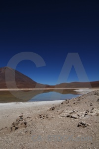 Water stratovolcano mountain andes sky.