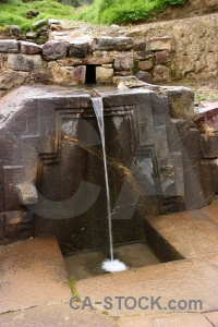 Water stream ollantaytambo south america altitude.