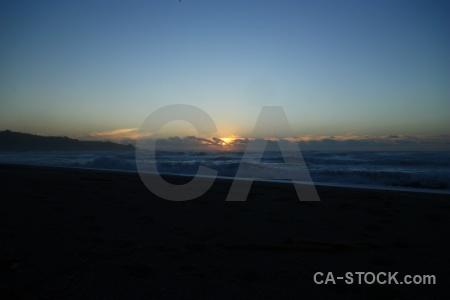 Water sunrise wave sun punakaiki.