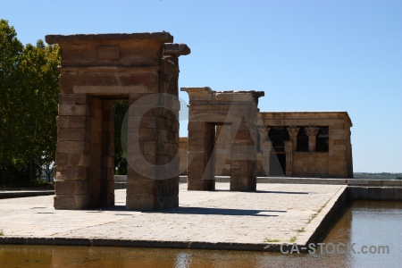 Water temple of debod ruin egyptian.