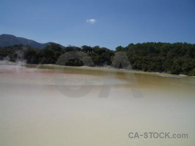 Water volcanic blue lake.