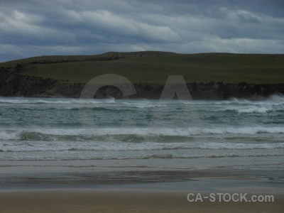 Water wave beach south island catlins.