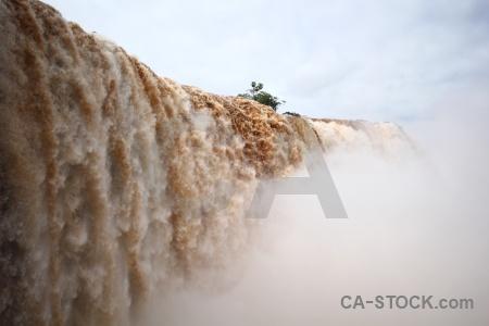 Waterfall iguazu falls sky river iguacu.