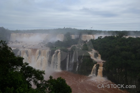Waterfall iguazu falls spray cloud unesco.