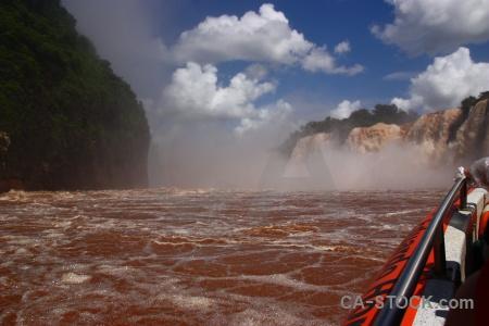 Waterfall iguazu river iguacu falls sky water.