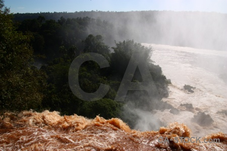 Waterfall river unesco spray iguassu falls.