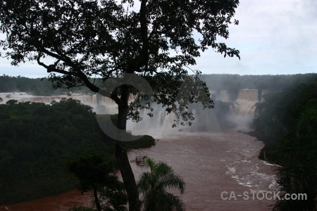 Waterfall sky iguazu river cloud iguacu falls.