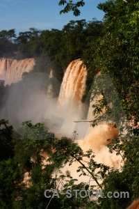 Waterfall unesco iguacu falls south america iguazu.