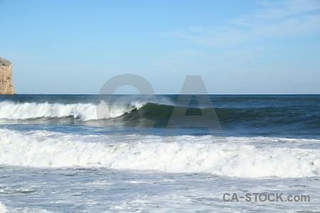 Wave europe sea spain water.