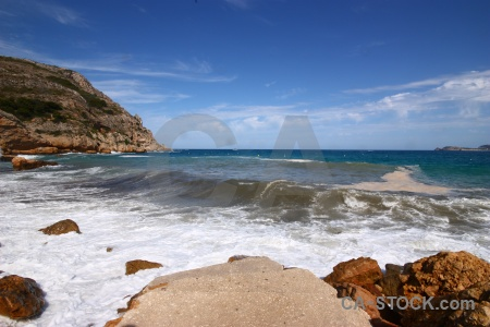 Wave javea spain europe sky.