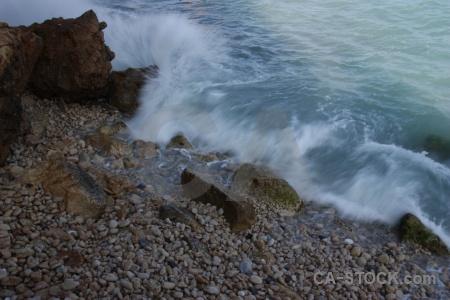 Wave javea water rock spain.