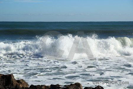 Wave sea europe javea water.