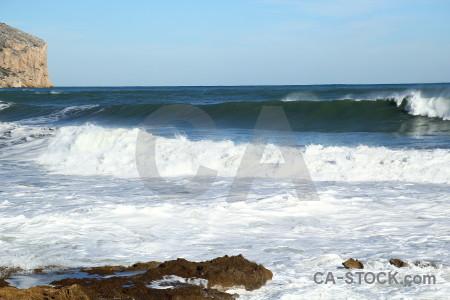 Wave spain rock water javea.