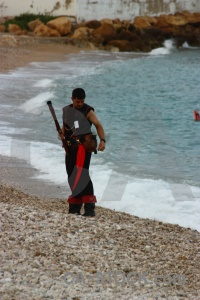 Weapon beach sea gun costume.