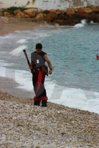 Weapon beach sea gun costume.