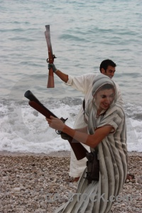 Weapon beach stone spain musket.