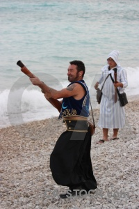 Weapon costume beach javea spain.