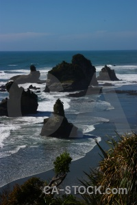 West coast landscape beach wave rock.