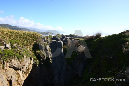 West coast pancake rocks south island new zealand limestone.