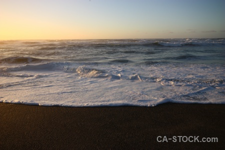 West coast sunset new zealand beach wave.