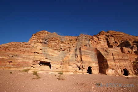 Western asia ancient petra jordan historic.