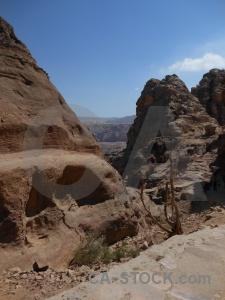Western asia ancient rock jordan middle east.