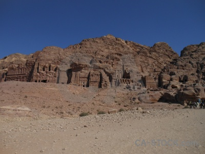Western asia ancient rock tomb nabataeans.