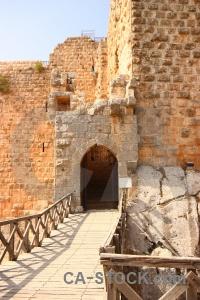 Western asia archway jordan historic ajloun.