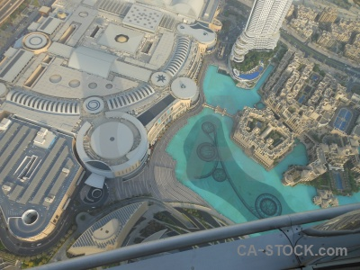 Western asia burj khalifa middle east building aerial.