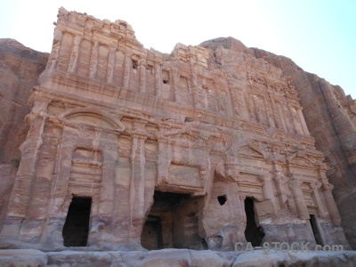 Western asia cliff jordan archaeological middle east.