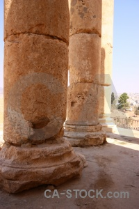 Western asia historic ruin roman column.
