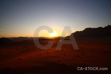 Western asia jordan desert landscape sky.