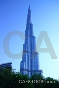 Western asia middle east burj khalifa uae skyscraper.