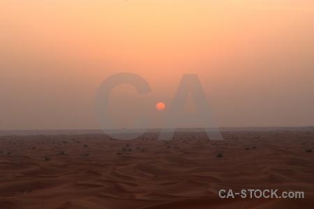 Western asia middle east dune uae sunset.