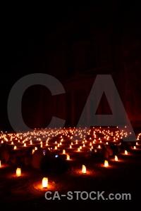 Western asia nabataeans candle jordan treasury.