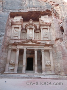 Western asia nabataeans middle east archaeological tomb.