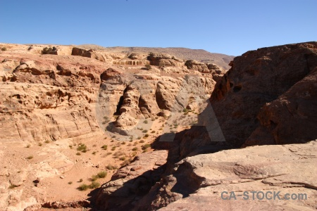 Western asia nabataeans unesco carving sky.