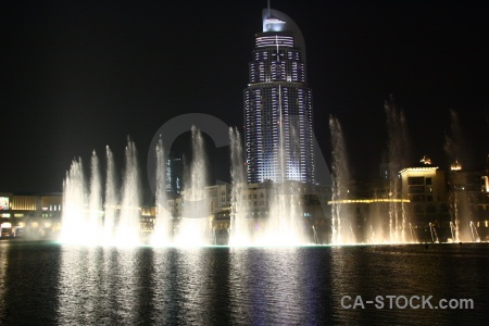 Western asia night water dubai middle east.