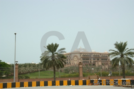 Western asia palace sky emirates palm tree.