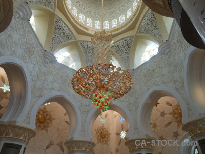 Western asia sheikh zayed building inside arabic.