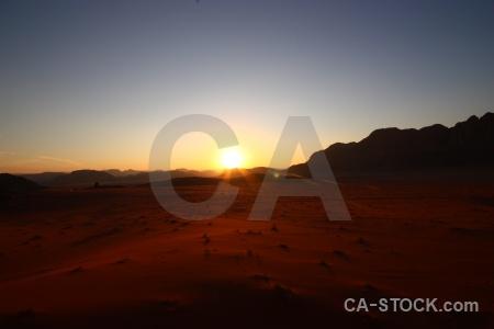 Western asia sky rock sunrise desert.
