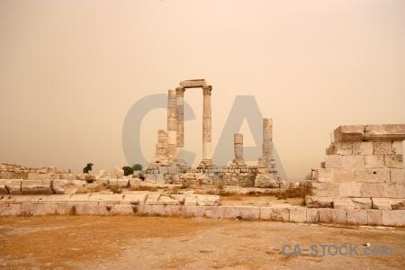 Western asia sky roman citadel block.