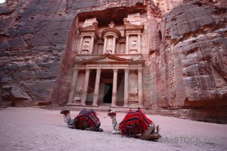 Western asia tomb historic column al khazneh.
