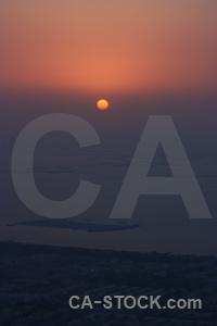 Western asia water aerial sunrise sun.