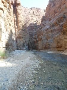 Western asia water wadi canyon arnon.